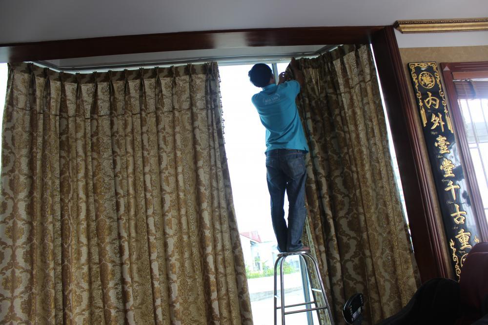 Dịch vụ giặt màn rèm cửa ở Bình Dương
