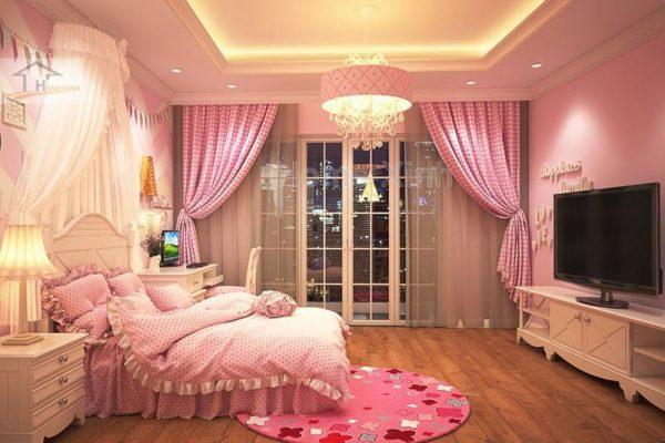 Những lưu ý khi lựa chọn rèm cho phòng ngủ bé gái